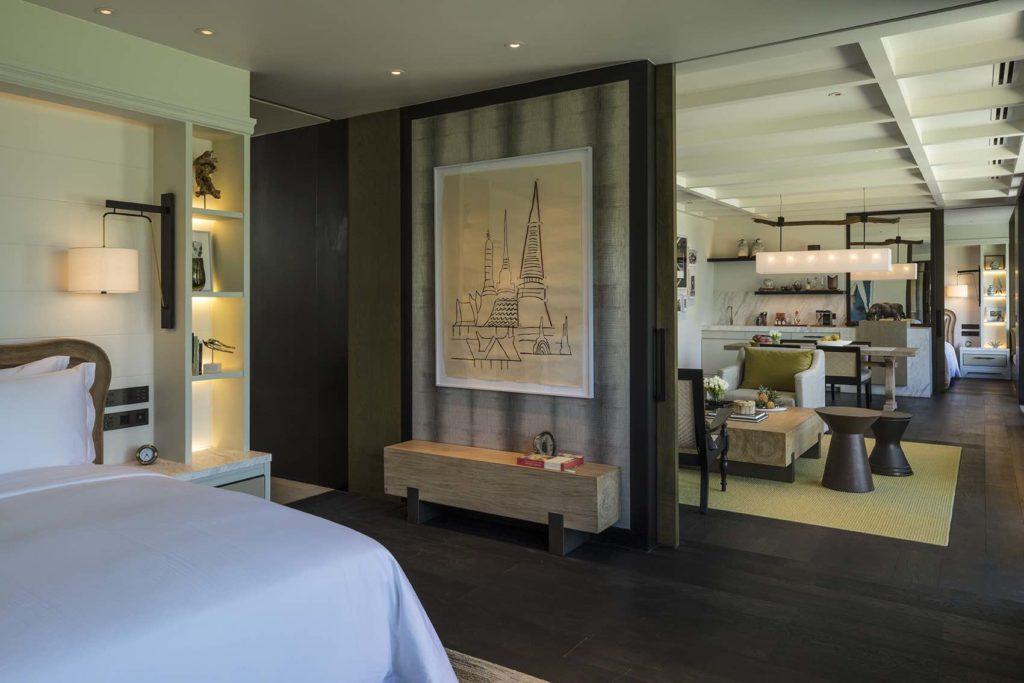 Luxury hotel, luxury bedroom, living room, painting, decoration